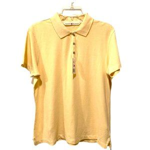 Tommy Hilfiger Women's Size XL Classic Yellow Polo